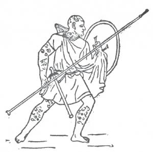 Lancier libyen de l'armée punique, représentation de Theodore Ayrault Dodge, 1891