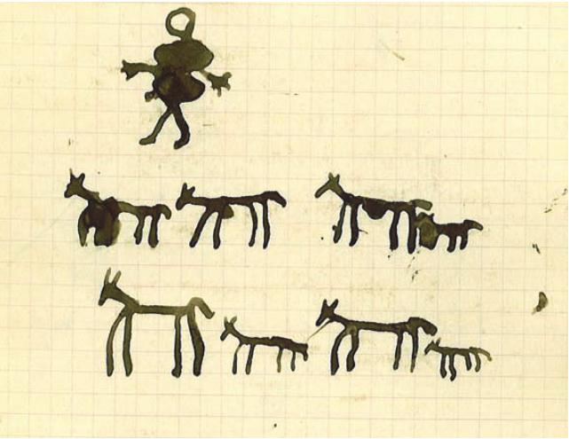 Fig. 5 Bergère avec ses chèvres. Abdelbaki Temissa, fraction des Ouled Khallaf, 11 ans. Fonds Thérèse Rivière, musée du quai Branly.