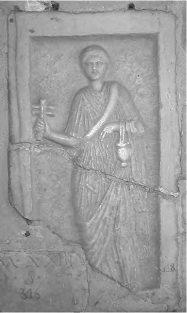 Fig. 8 : Ex-voto d'une prêtresse d'Isis, Cherchel (cl. de l'auteur).