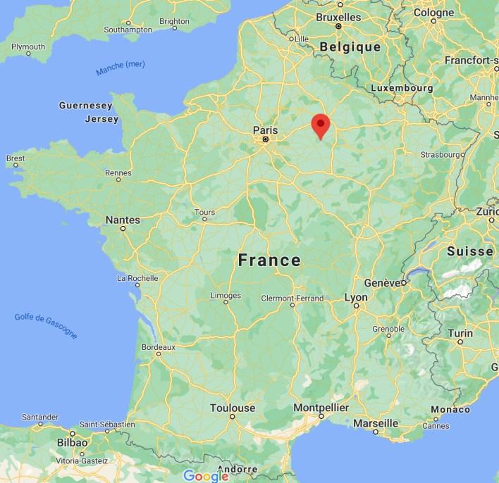 Figure 5. Situation géographique de Coizard-Joches