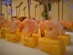 Ananas e mazzancolle marinate agli agrumi