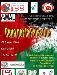A Palermo una cena per i bambini palestinesi: vieni?