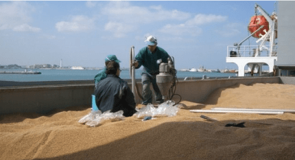 Pozzallo, la nave carica di grano ammuffito è ripartita per il Kazakistan