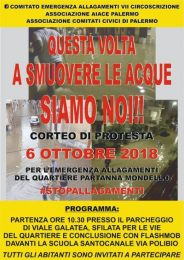 Allagamenti a Partanna-Mondello: un corteo di protesta ed un esposto in Procura