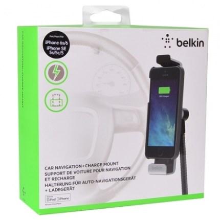 Soporte y cargador vehicular para IPhone y IPod marca Belkin - Caja del producto