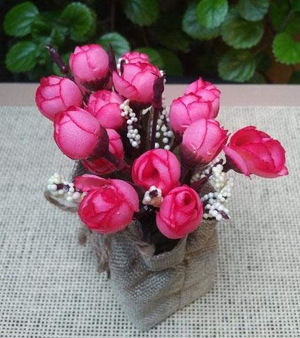 Foto 2 - Modelo 1 - Flor rosa - Arriba