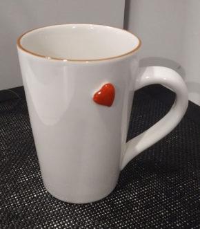 Foto 1 - Taza ceramica corazon - Frontal