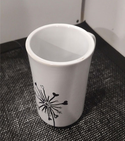 Foto 4 - Taza ceramica pintada a mano - Diseño flor