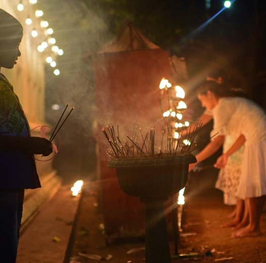 Binara Full Moon Poya Day in Galle Fort