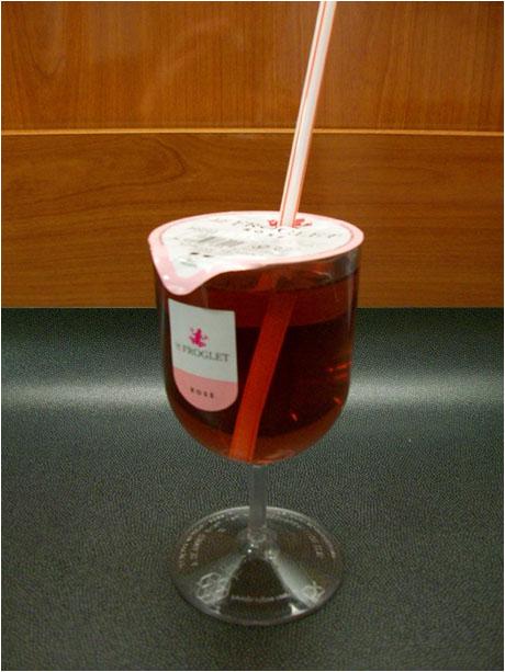 Foil Top Plastic Wine Glass 1