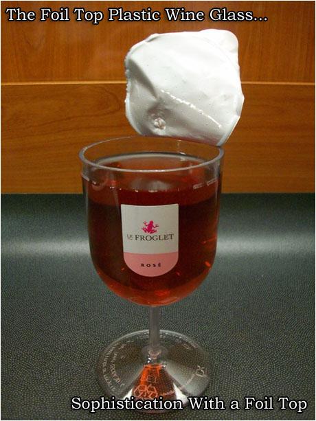 Foil Top Plastic Wine Glass 2