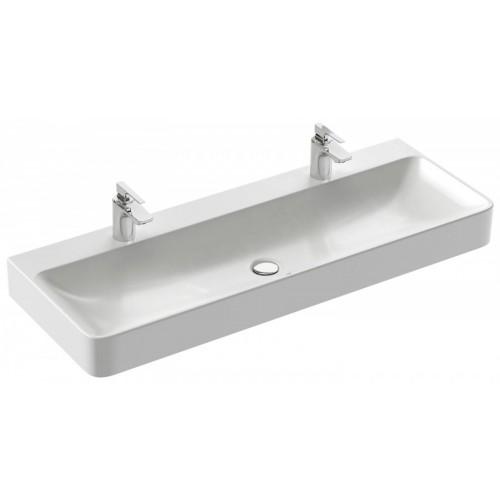 Vasque A Poser 120 X 45 Cm 2 Trous De Robinetterie