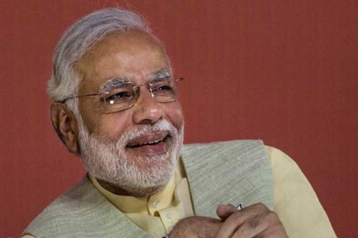 bharatiya janata party bjp leader narendra modi smiles during a meeting to announce