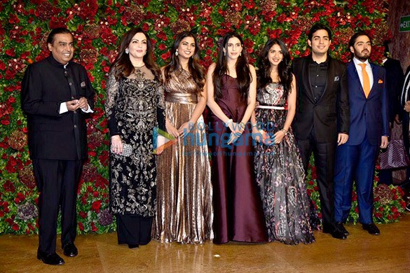 Ambani Family at reception of Deepika and Ranveer 2018