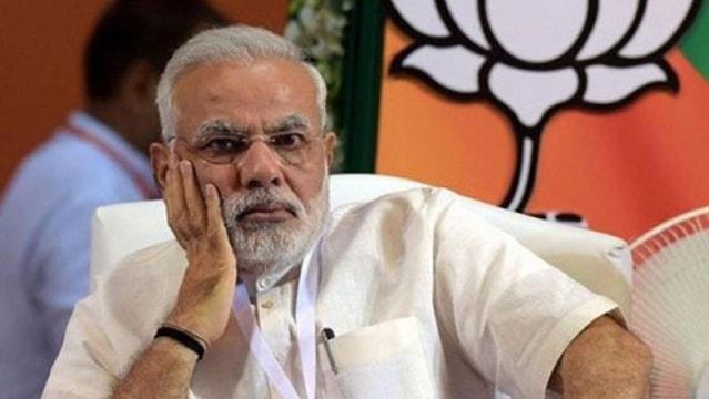 narendra modi angry look