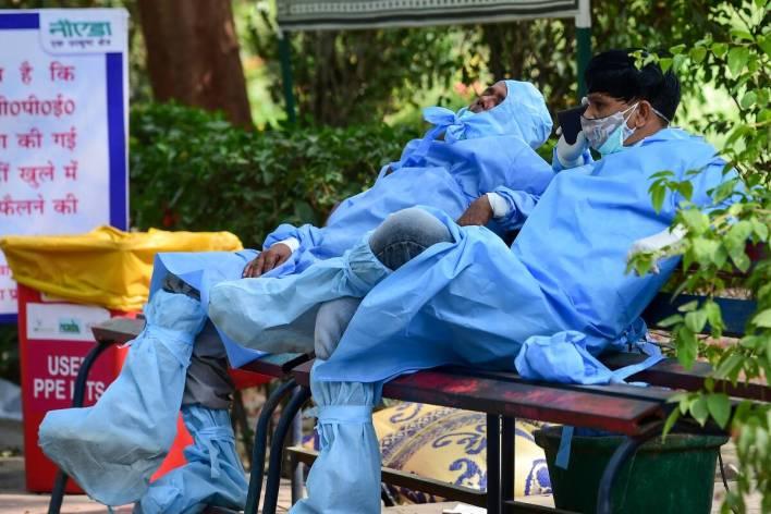 noida health workers pti photo