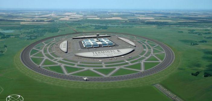 Pista de aterrizaje circular: Los nuevos aeropuertos