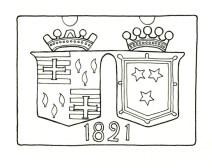 1821 Crest above Inverbrora B&B Farm Door