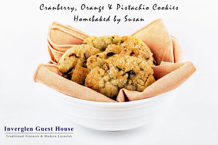 Cranberry Orange and Pistachio Cookies