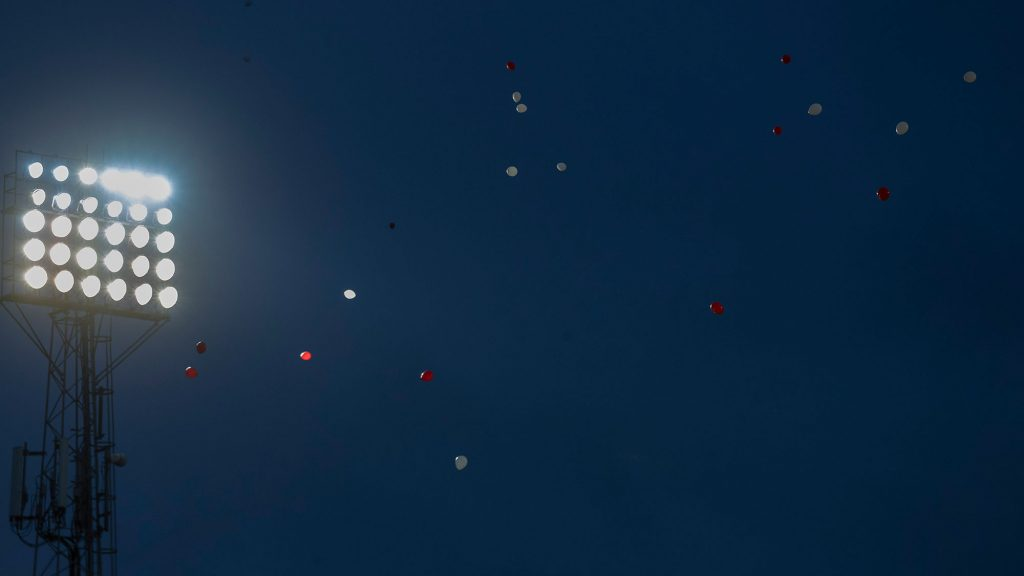 Balloons above Pittodrie