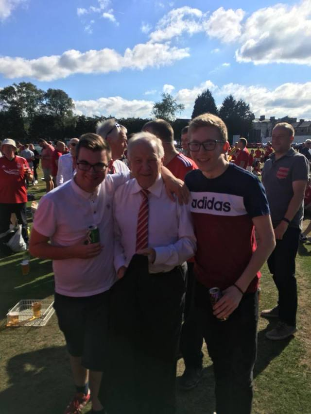 Connor Doherty on Facebook - Coyr — drinking beer with Sean Neville at Burnley Cricket Club 1833.