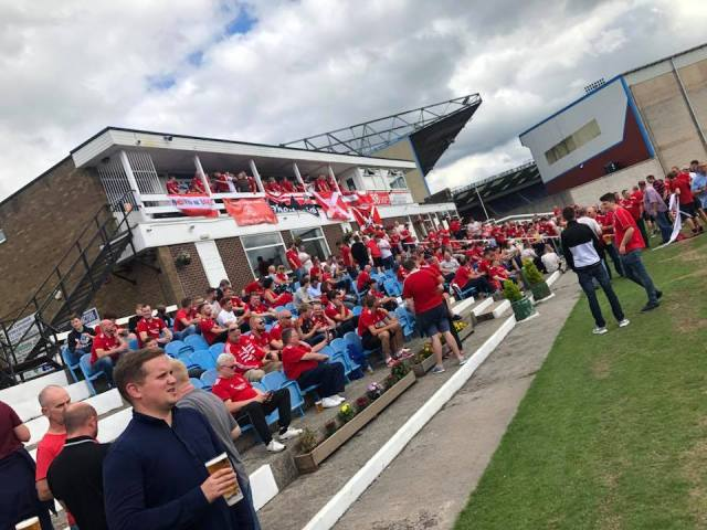 Mark Reid on Facebook - Dandies min 🍻 — drinking beer at Burnley Cricket Club 1833.