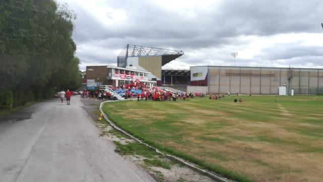 @OptaFraz - Just been sent this pic of the cricket ground in Burnley, can't wait to get along! COYR