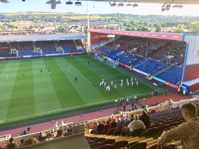 @davidpreece12 - Turf Moor and Lancashire looking glorious tonight for the Dons.