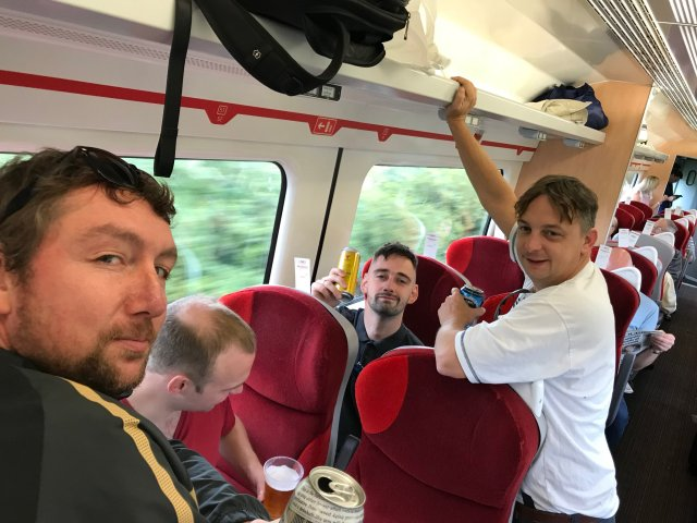 @mattcoull1903 - We're on our way from misery to happiness today !!!