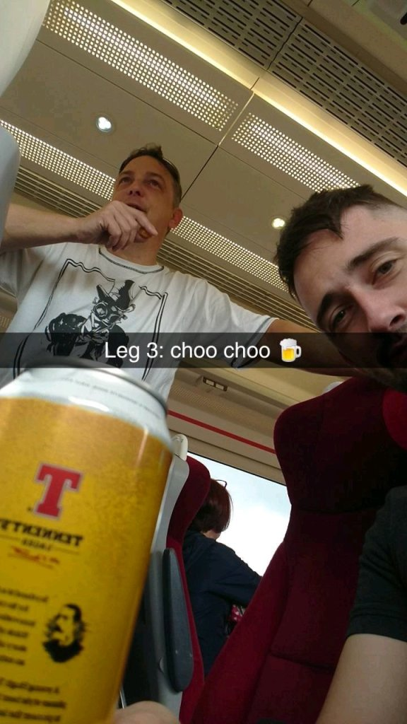 "@mattcoull1903 - Nothing says ""Football away trip"" quite like a can of warm Tennents 😅😍"