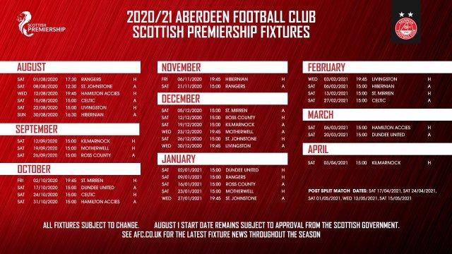 Aberdeen FC Fixtures