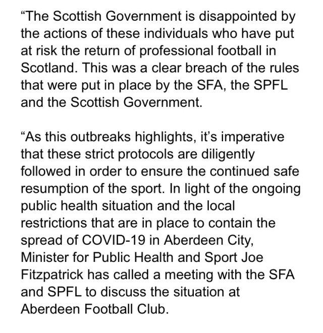 Scottish Government statement