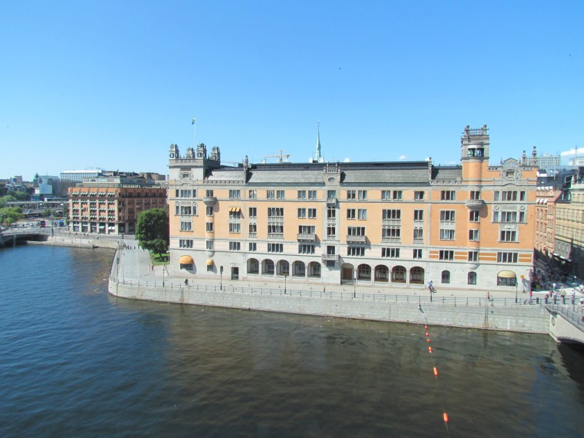 View from Swedish parliament