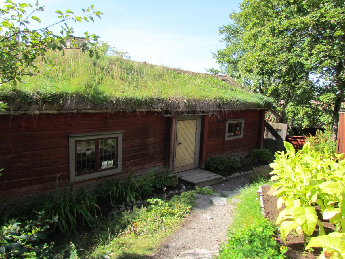 House with turf roof