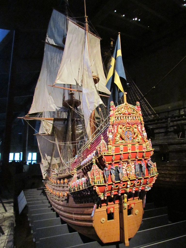 Painted replica Vasa