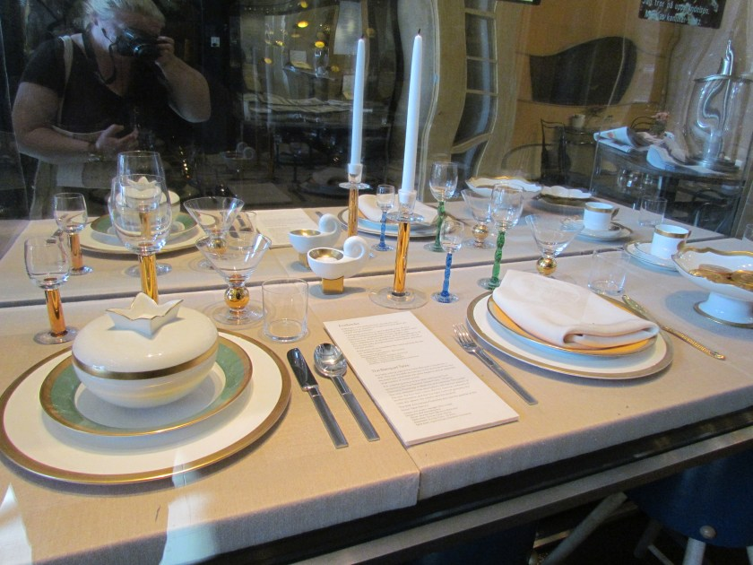 place setting for Nobel banquet