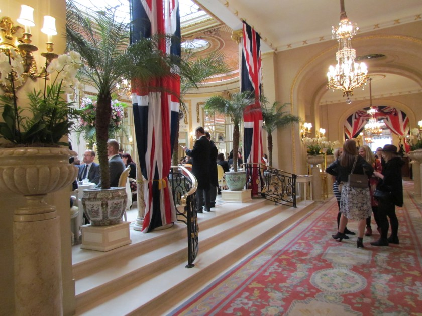 Steps to the Palm Court