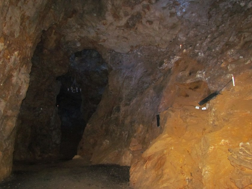 Matlock cave with flash