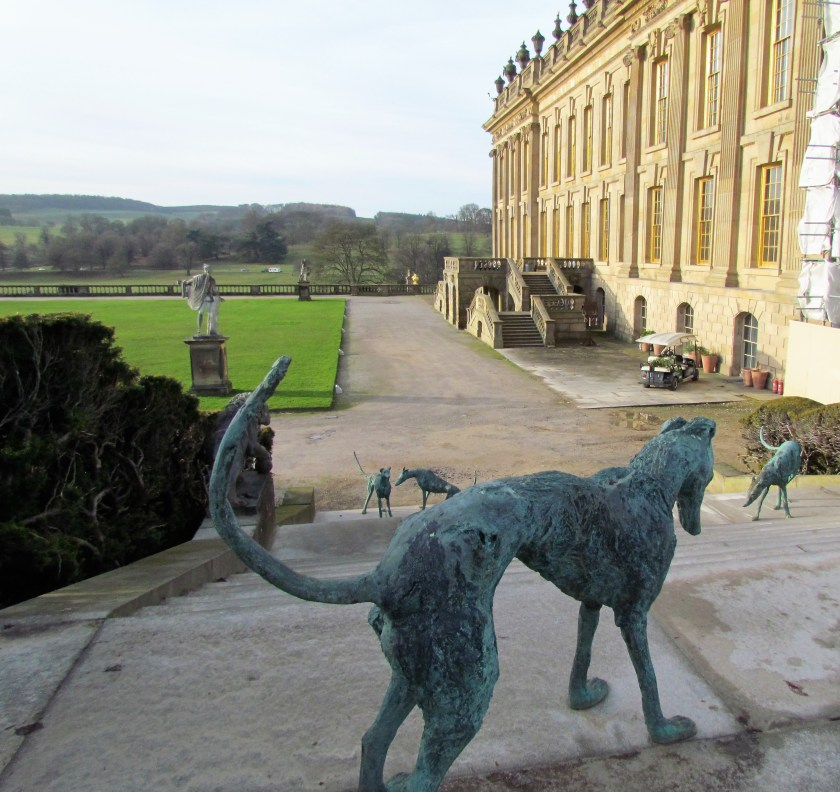 dog sculptures, Chatsworth