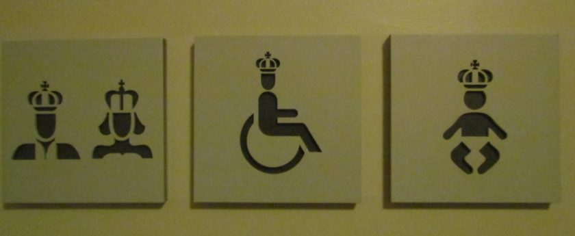 royal toilet signs
