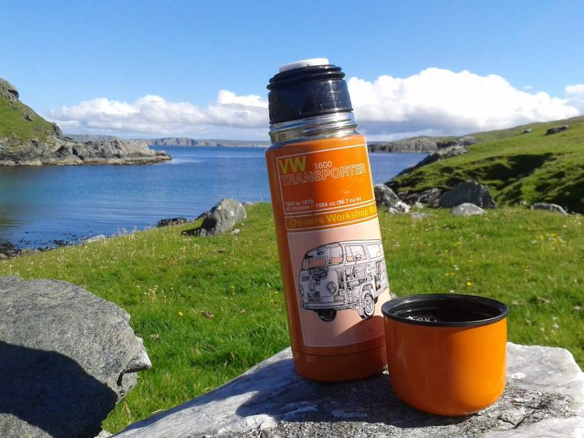 walking to fethaland - coffee stop