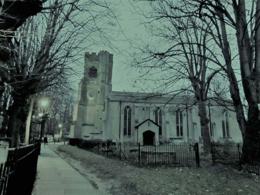 A Day in Walthamstow - St Mary's Church- Inverted Sheep