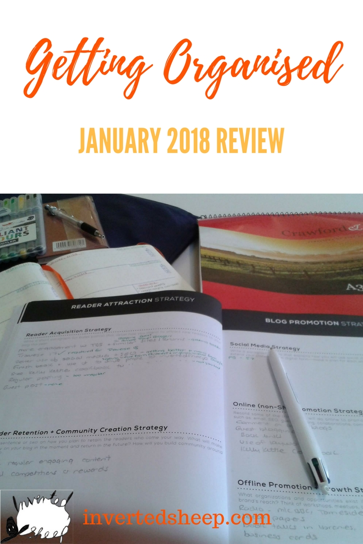 Getting Organised – January 2018 Review
