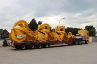 Verladung und Transport von Kröger-Industriegreifern