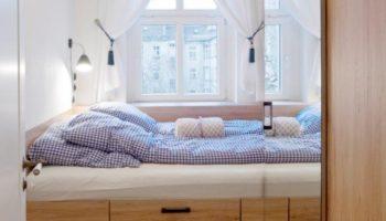 Sleeping rooms in old building berlin