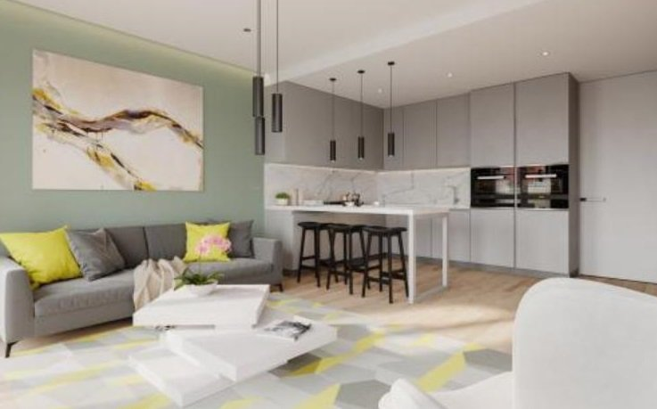 show apartment - fitted kitchen