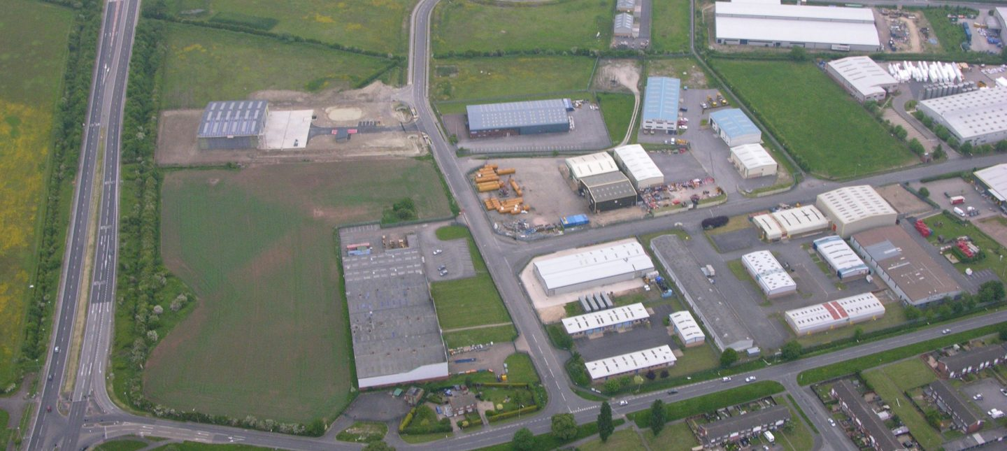 Aerial view of Somerby Park