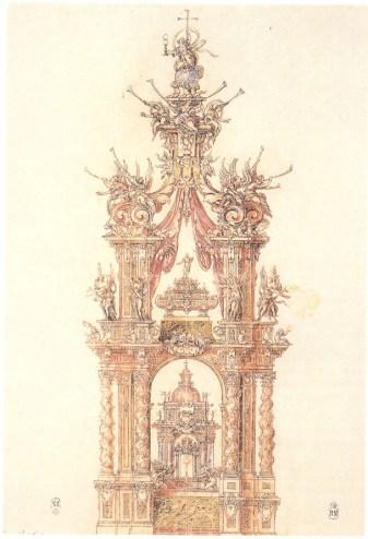 Sebastián Herrera Barnuevo: Baldaquino de San Isidro, 1659. Madrid, Biblioteca Nacional.