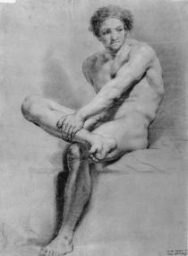 Carlos Espinosa- Desnudo masculino, copia de Mengs.