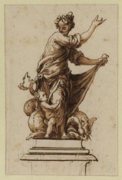 Sebastián Herrera Barnuevo: Venus sobre Pedestal. Courtauld Institute, Londres.